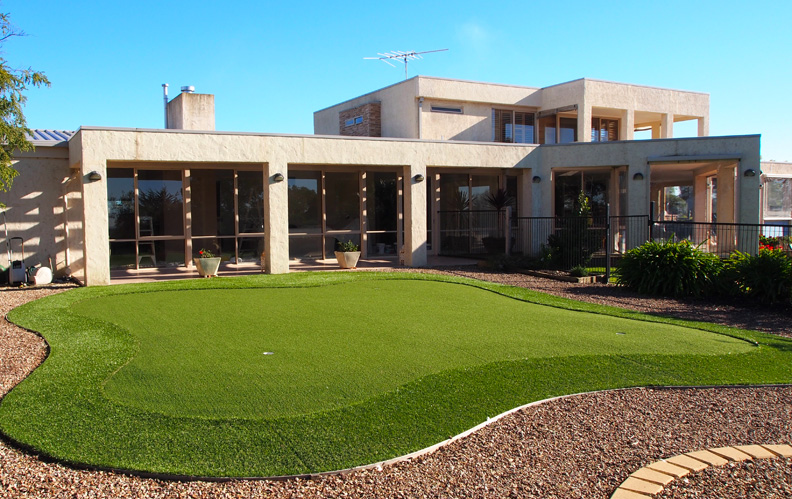how to make a synthetic putting green in your backyard